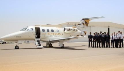 Etihad Flight College Cadet Pilots instructors and Phenom