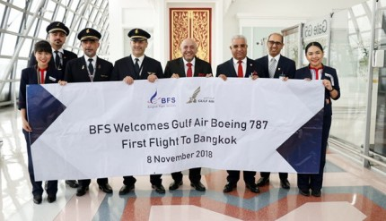Gulf Air Celebrates the Inaugural Flight of its Dreamliner to Bangkok1 (002)