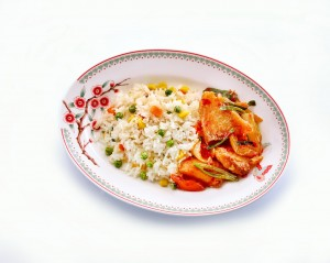 Szechuan Tilapia with Rice_