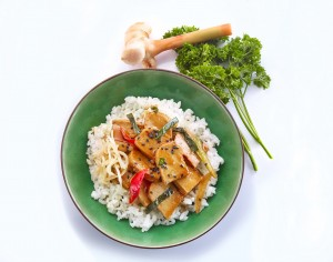 Teriyaki Tofu with Rice_